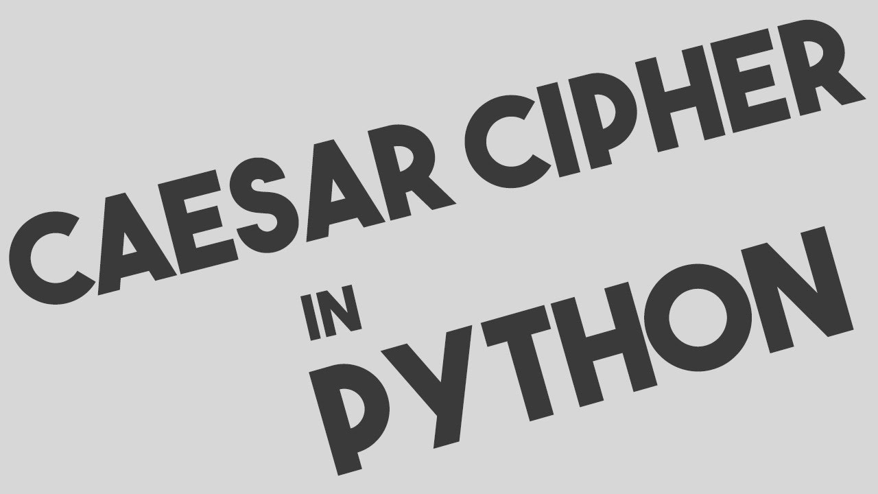 Caesar Cipher Encryption and Decryption in Python