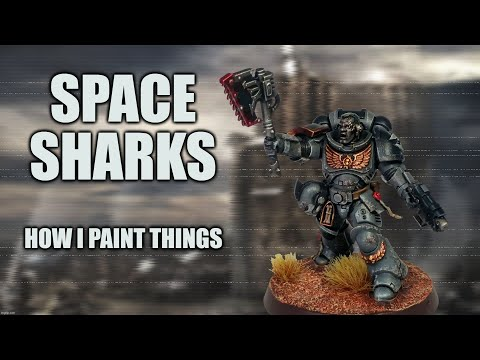 Space Sharks! or, How I Learned to Stop Worrying and Paint Carcharodons Astra [How I Paint Things]
