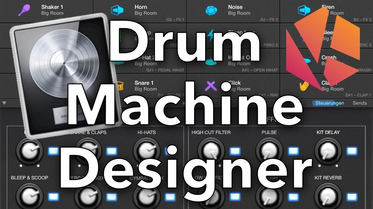 logic pro x drum machine tutorial