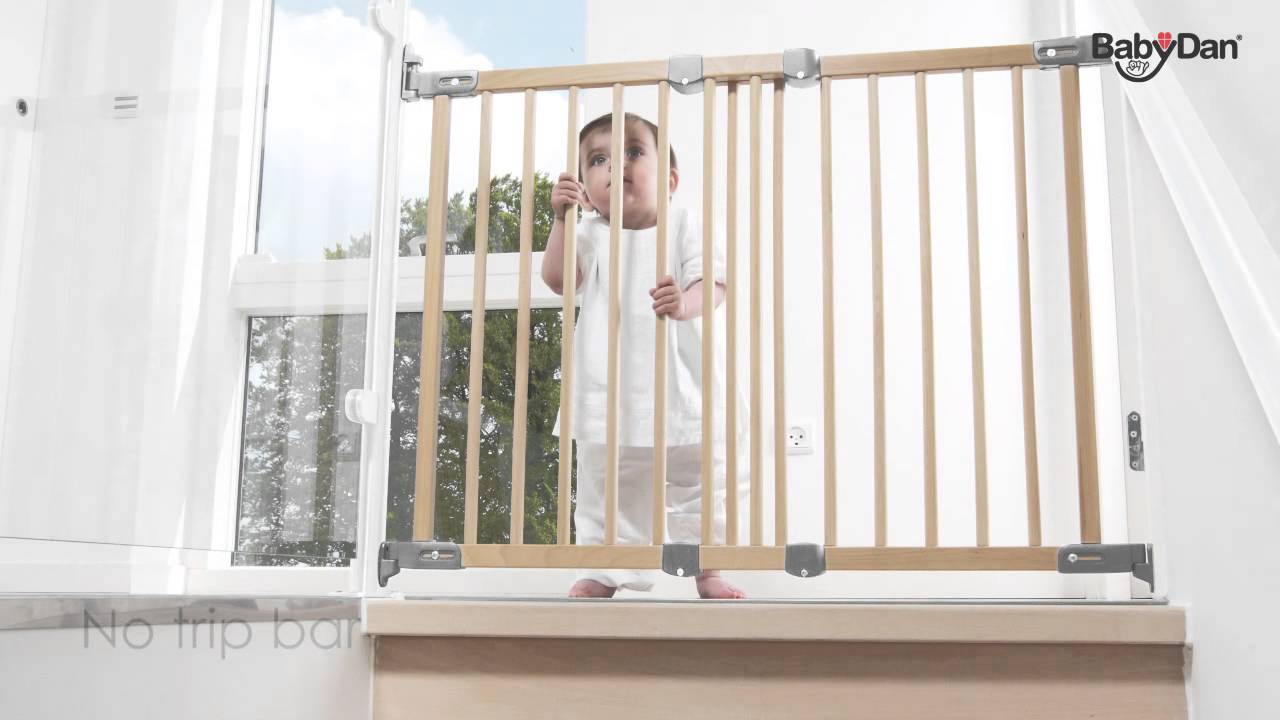 Flexi Fit Wood Safety Gate From Baby Dan   YouTube