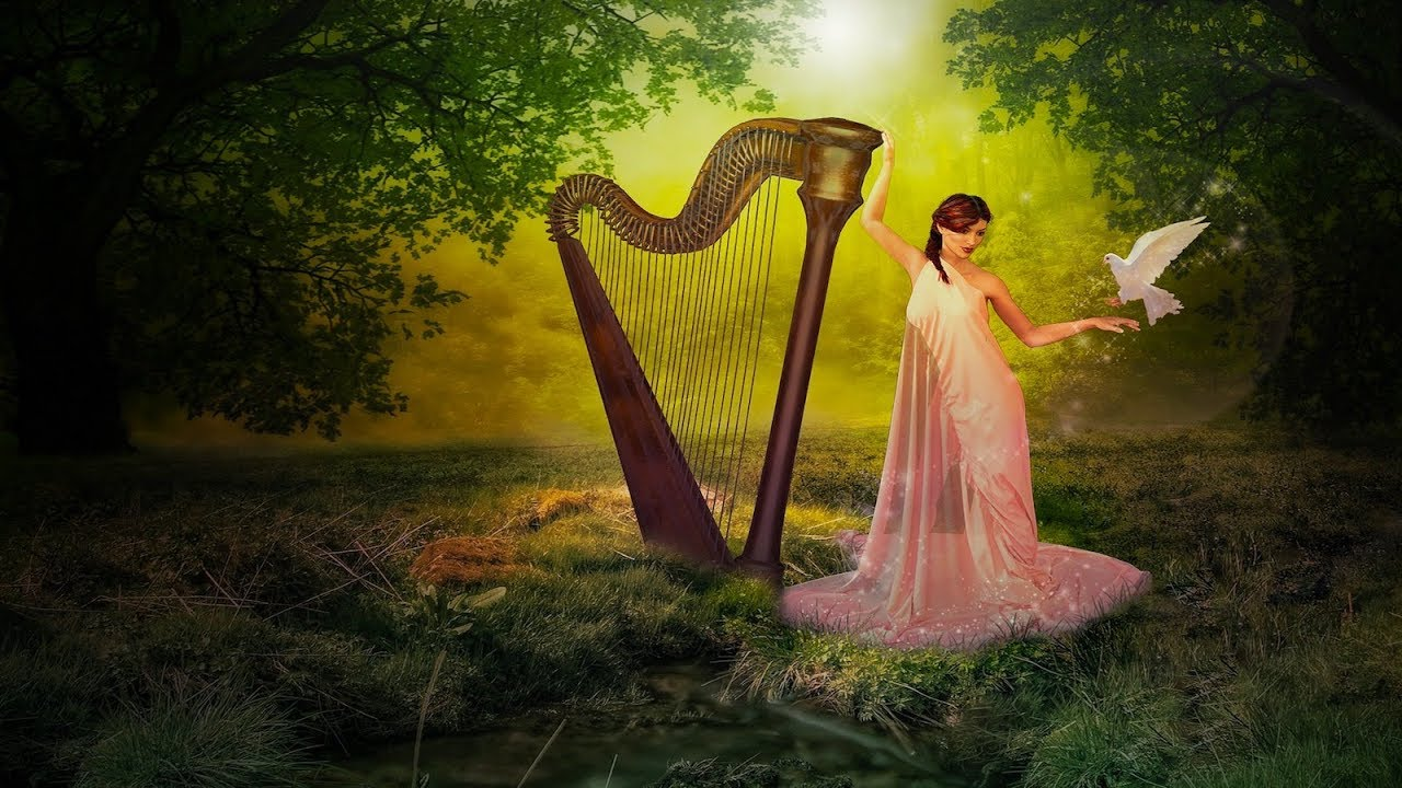 Enchanted Harp Music Faery Harp Relaxing Soft Peaceful 36 Youtube
