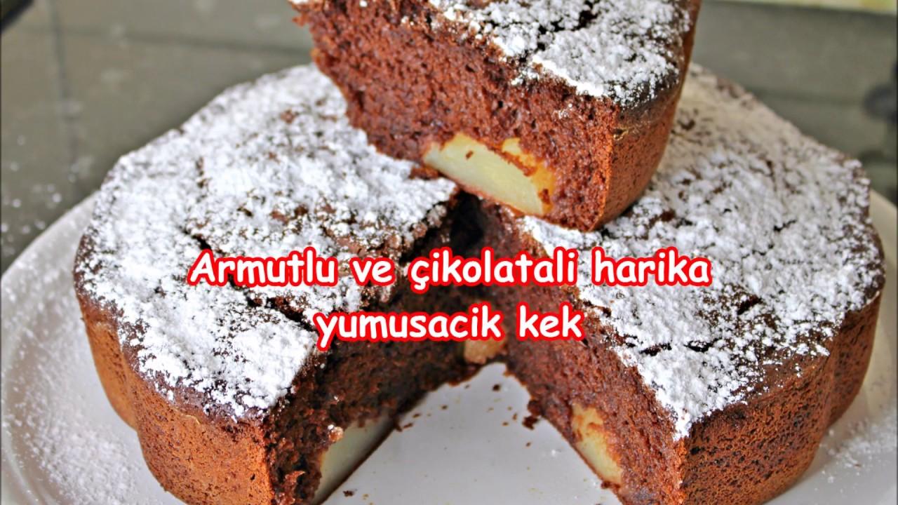 Armutlu ve çikolatalı yumuşacık kek tarifi