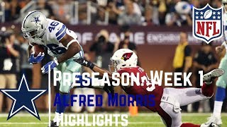 Alfred Morris Full Week 1 Preseason Highlights | Strong Running! | 8/03/2017