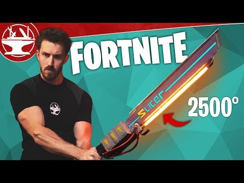 Fortnite Sword in Real Life BURNS EVERYTHING!