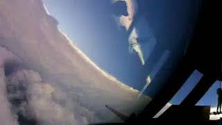 FLYING INSIDE OF HURRICANE IRMA.  En interior  del Huracan Irma