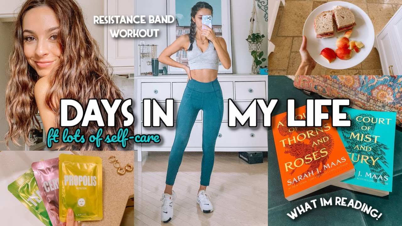 RESISTANCE BAND WORKOUT, BOOKS YOU NEED, & WAVY HAIR ROUTINE | VLOG