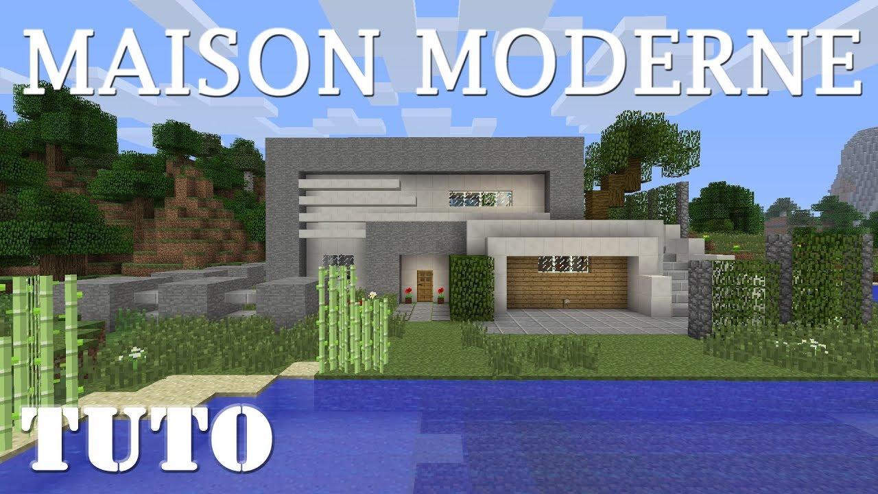 MINECRAFT - Comment faire une maison moderne (ps4) - YouTube