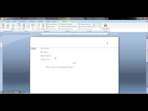 MLA Format Example
