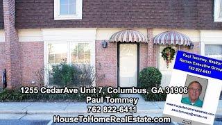 1255 Cedar Ave., unit 7, Columbus GA condo for sale, town house homes