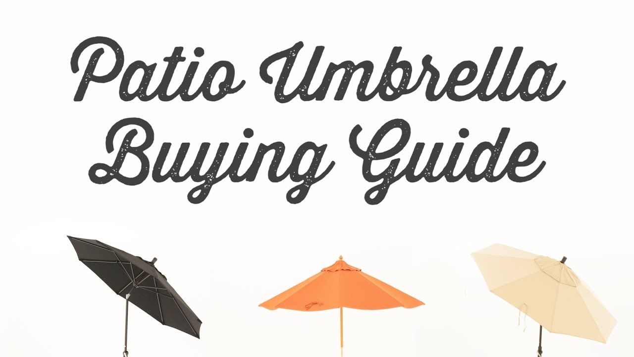 Patio Umbrella Buying Guide   YouTube