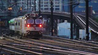 New Jersey Transit : Long Branch Bound Train Bypassing Harrison Station