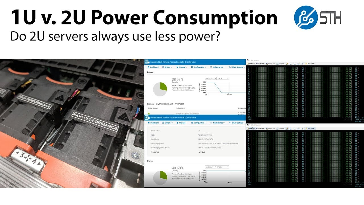 1U v 2U Power Consumption Testing with Dell EMC PowerEdge