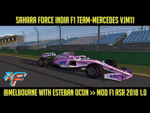 [rFactor2] Sahara Force India F1 Team-Mercedes VJM11 @ Melbourne with @OconEsteban