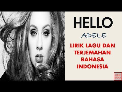 HELLO ~ ADELE  VERSION  LIRIK DAN TERJEMAHAN BAHASA INDONESIA