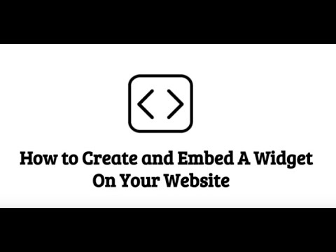 How To Create And Embed Widget On Your Website