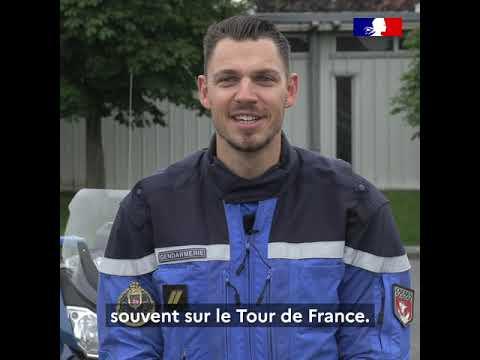 TDF 2021 : Grégoire, motocycliste de la Garde Républicaine