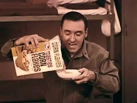 VINTAGE 1960's JIM NABORS & RONNIE SCHELL CEREAL COMMERCIAL  U.S. MARINE CEREAL BREAK