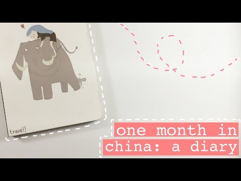 i spent one month in china. these are my journal entries.