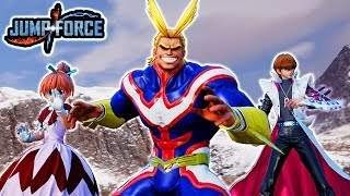 Jump Force - ALL NEW DLC Pack 1 Characters Moveset & Ultimates Gameplay - All Might, Kaiba, & Bisky