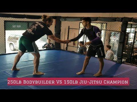 250lb BODYBUILDER VS 150LB JIU-JITSU WORLD CHAMPION-GUY MEZGER GYM-TEXAS-BJJ MATHEUS GABRIEL
