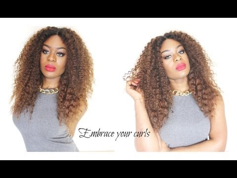 How To Cut Curly Hair Into Layers For Wigs And Weaves Youtube