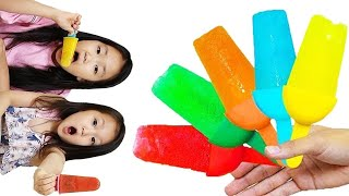 color song with fruit ice cream | Kids song & Nursery rhymes | family pretend play 아이스크림 만들기와 영어공부