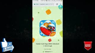 How to download CANDY CRUSH SAGA MOD apk