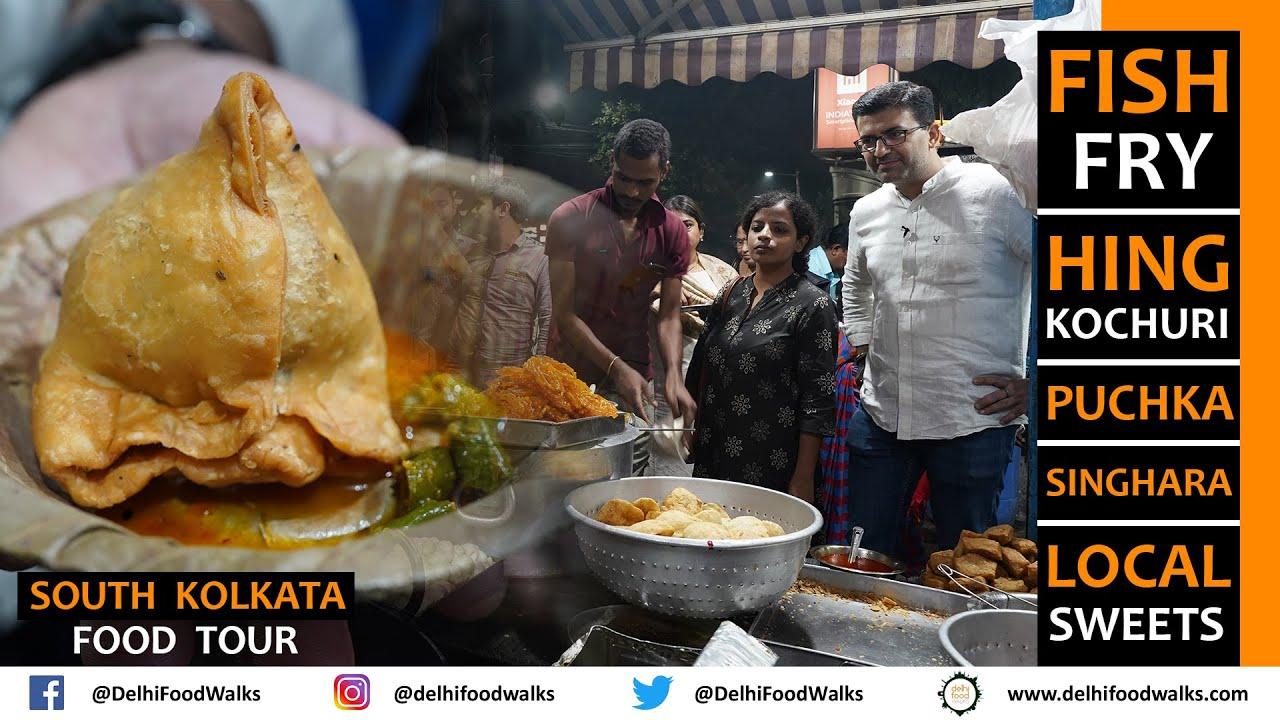 South KOLKATA Street FOOD Tour I Puchka + Singhara + Fish Fry + Hing Kochuri + Local Sweets