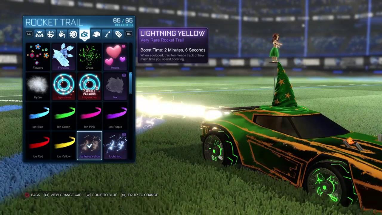 Lightning Red Paint Rocket League