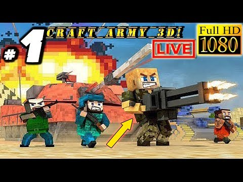 Craft Army Attack 3D Gameplay: - BLOCKHEAD SOLDIERS! - Live Stream Android