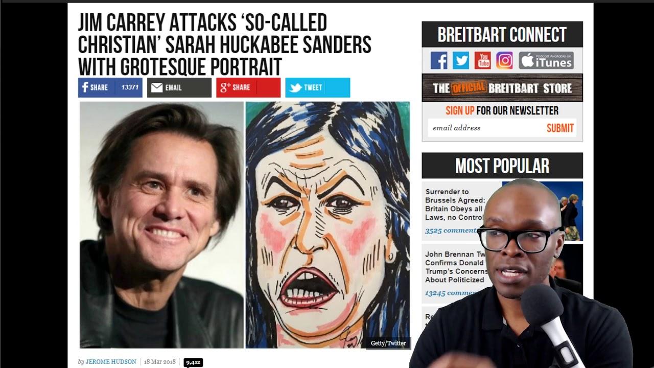 Look at This Portrait Jim Carrey Made of Sarah Huckabee Sanders