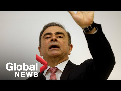 Fugitive ex-Nissan boss Carlos Ghosn speaks after fleeing Japan | FULL