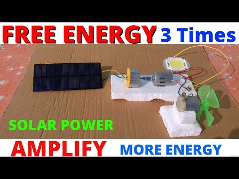 Free Energy Generator Amplifier!!! Homemade simple project using solar power energy.