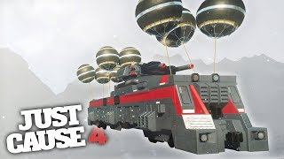 FLYING TRAIN CHALLENGE! - Just Cause 4 Challenges & Stunts!