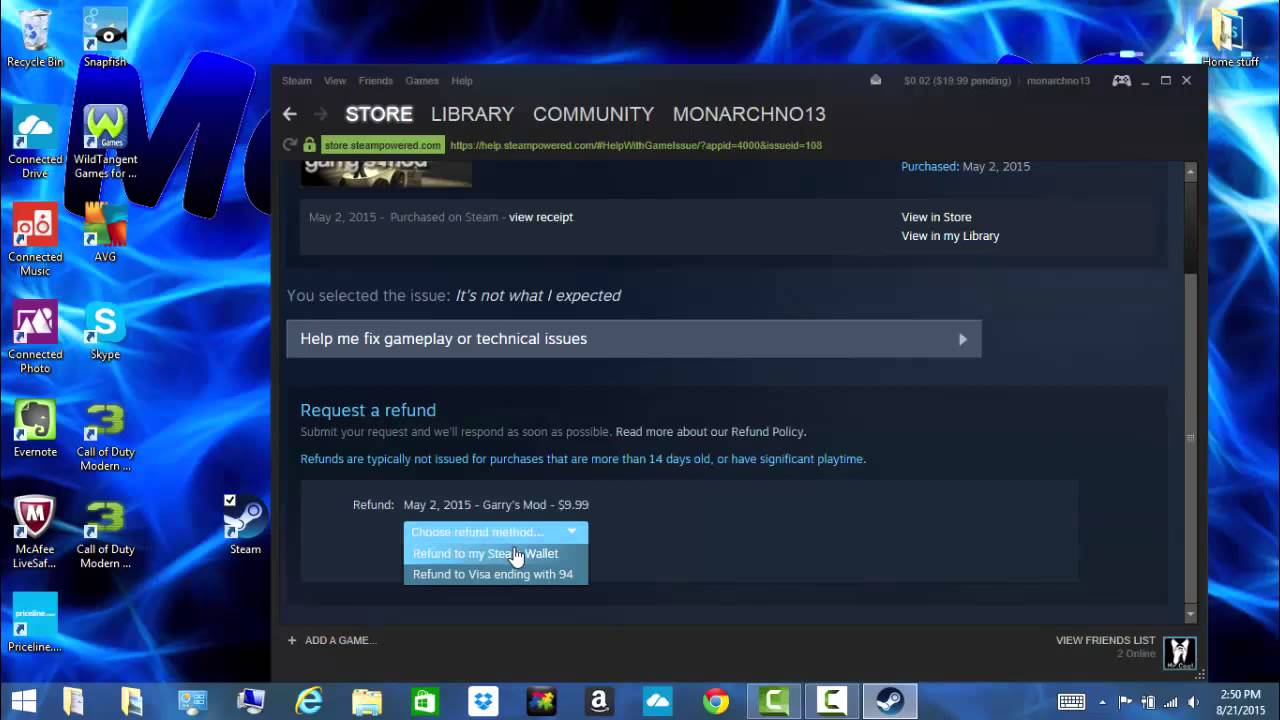 can you refund games on steam