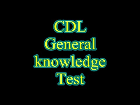 cdl general knowledge questions and answers