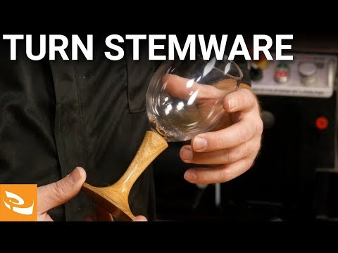 How to Turn Wine Glass Stemware | Woodturning Project