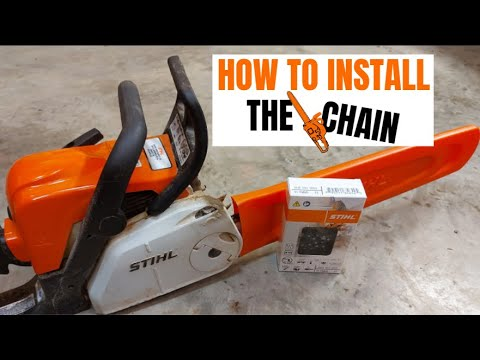 Replace the Chain on a Chainsaw // Stihl MS 180 Chain Install