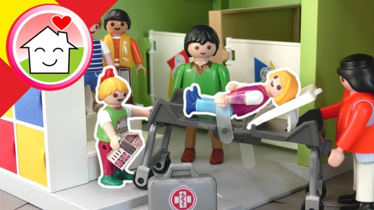 Playmobil en español Lisa tiene que ir al hospital - La familia Hauser