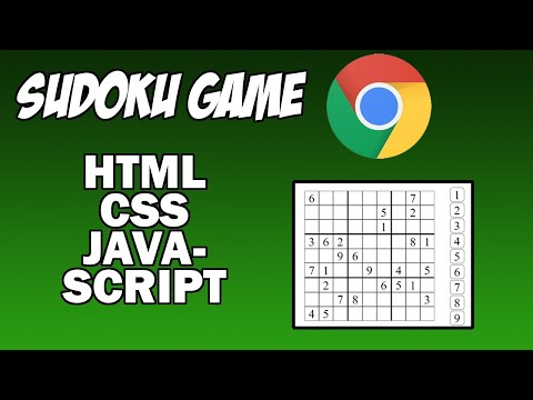 Ep. 1 - Building The Structure | Sudoku Game Tutorial Using HTML, CSS, And JavaScript