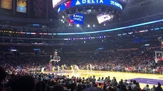 Lakers game Section 118 Staples Center (view from your seats)