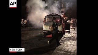 Protesters clash with police in NYC