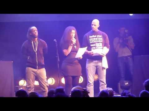 Concert Justice pour Adama à la Cigale le 2 février - Interventions famille Traoré