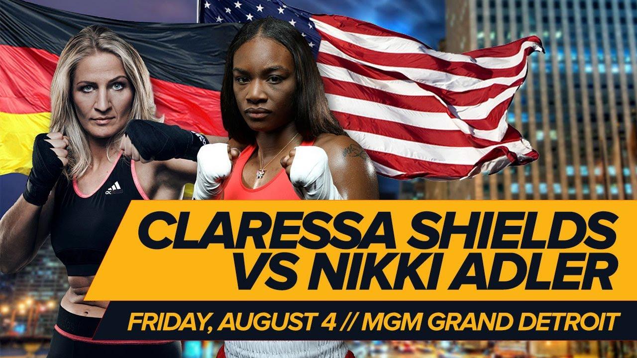 Image result for Nikki Adler vs Claressa Shields live pic logo