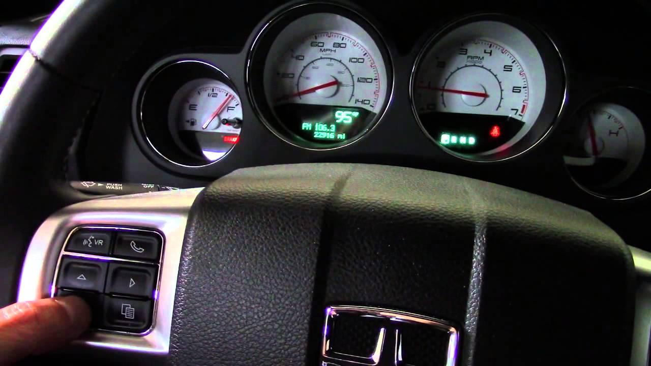 Secret Hidden Evic Menus Dodge Challenger Charger Chrysler