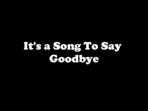 Placebo - Song To Say Goodbye (Lyrics)