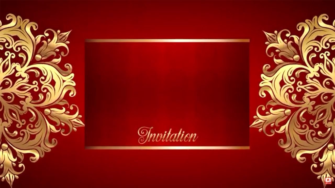 Wedding Intro Video Background Free Border Gold Text 1080p Full Hd