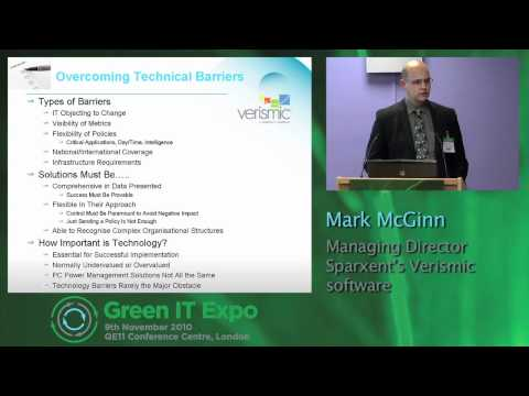 Green IT Expo 2010 - Verismic presenting PC Power Management from the Cloud