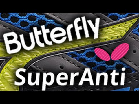 Block with BUTTERFLY Super Anti 1.9 mm - blocking against topspin, antispin technique
