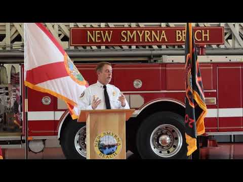 New Smyrna Beach Fire Department Tower 50 Housing Ceremony